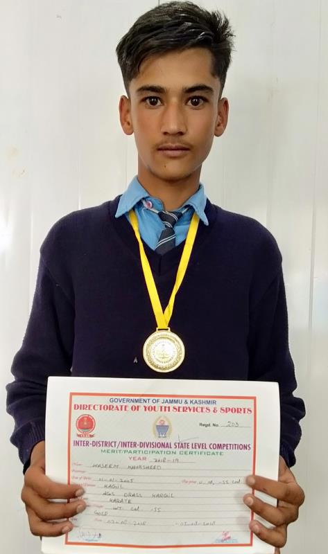 Wasim Khursheed  State level champion