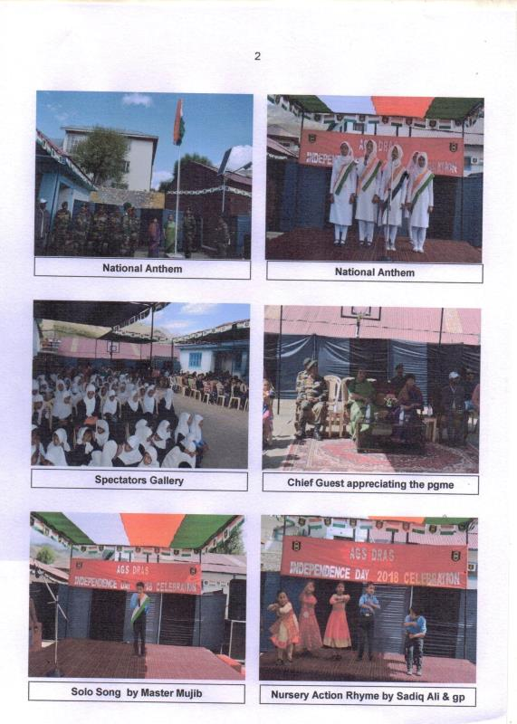 celebration of independence day in presence of AWWA president 14 corps