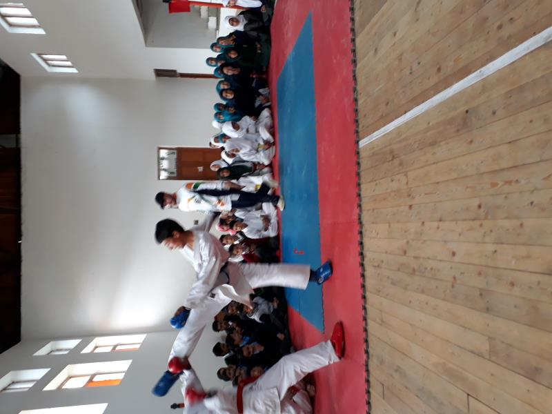 Block level karate competition